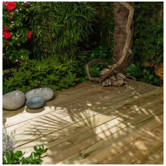 Lames de terrasse, CI.4 vert 145mm